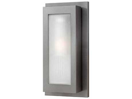 Hinkley Lighting Titan Hematite Glass Outdoor Wall Light HY2054HELED