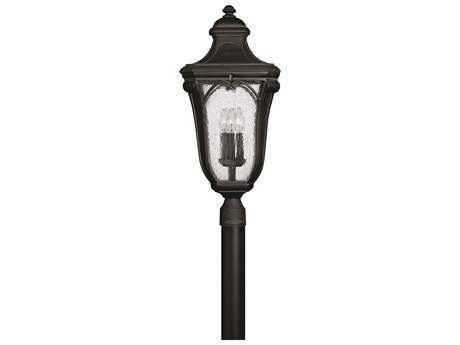 Hinkley Lighting Trafalgar Museum Black Three-Light Incandescent Outdoor Post Light HY1311MB