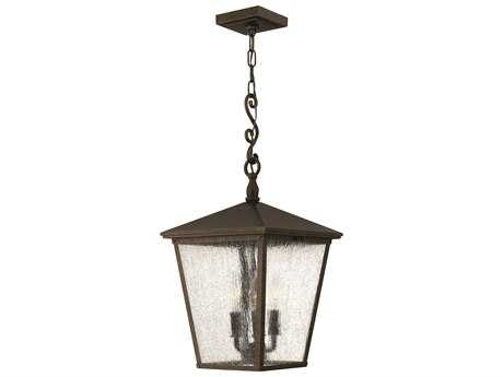 Hinkley Lighting Trellis Regency Bronze Three-Light Incandescent Outdoor Pendant Light