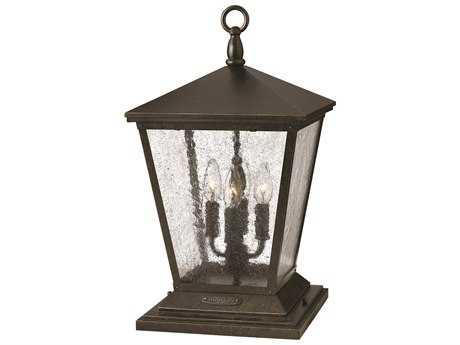 Hinkley Lighting Trellis Regency Bronze Four-Light Incandescent Outdoor Pier Light