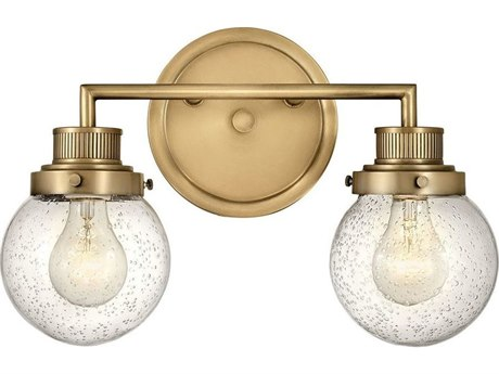 Hinkley Lighting Heritage Brass 2-light Glass Vanity Light