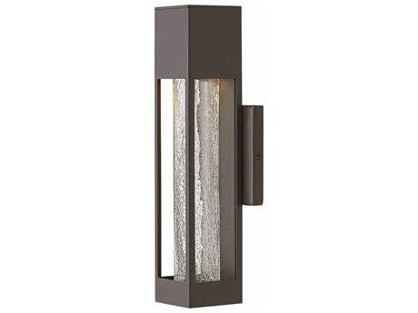 Hinkley Lighting Vapor Bronze with Crackle Glass 14'' High LED Outdoor Wall Light