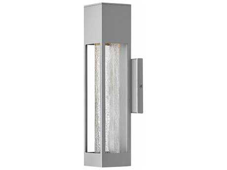 Hinkley Lighting Vapor Titanium with Crackle Glass 14'' High LED Outdoor Wall Light