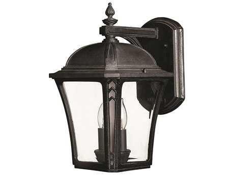 Hinkley Lighting Wabash Museum Black Two-Light Incandescent Outdoor Wall Light