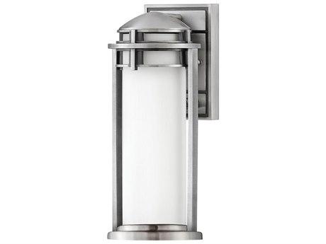 Hinkley Lighting Antique Brushed Aluminum 1-light 7'' Wide Glass Outdoor Wall Light