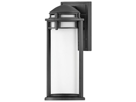 Hinkley Lighting Textured Black 1-light 7'' Wide Glass Outdoor Wall Light