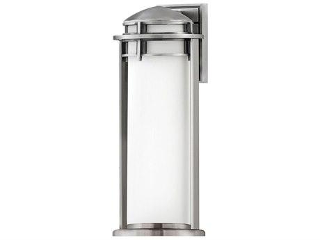 Hinkley Lighting Antique Brushed Aluminum 1-light 9'' Wide Glass Outdoor Wall Light