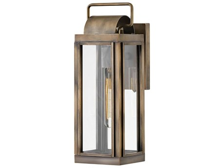 Hinkley Lighting Burnished Bronze 1-light 16'' High Glass Outdoor Wall Light