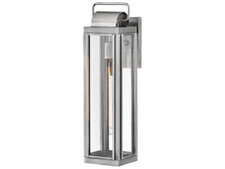 Hinkley Lighting Antique Brushed Aluminum 1-light 21'' High Glass Outdoor Wall Light