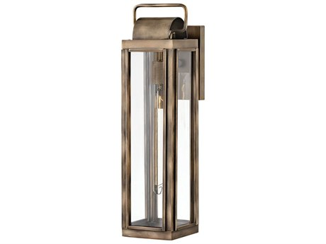 Hinkley Lighting Burnished Bronze 1-light 21'' High Glass Outdoor Wall Light