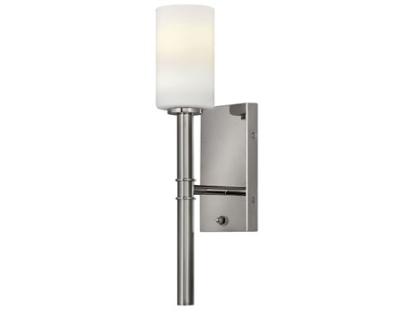 Hinkley Lighting Polished Nickel 1-light 6'' Wide Glass Wall Sconce