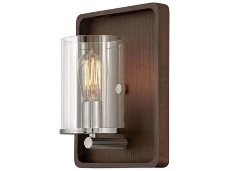 Hinkley Lighting Dark Walnut 1-light Glass Wall Sconce