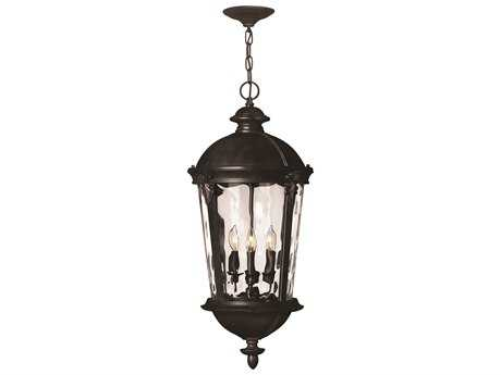 Hinkley Lighting Windsor Black Four-Light Incandescent Outdoor Pendant Light