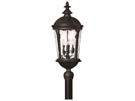 Hinkley Lighting Windsor Black Four-Light Incandescent Outdoor Post Light