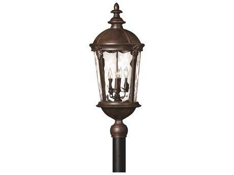 Hinkley Lighting Windsor River Rock Four-Light Incandescent Outdoor Post Light