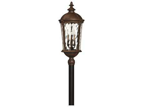 Hinkley Lighting Windsor River Rock Six-Light Incandescent Outdoor Post Light