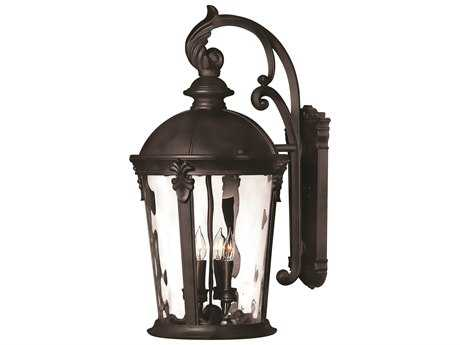 Hinkley Lighting Windsor Black Four-Light Incandescent Outdoor Wall Light