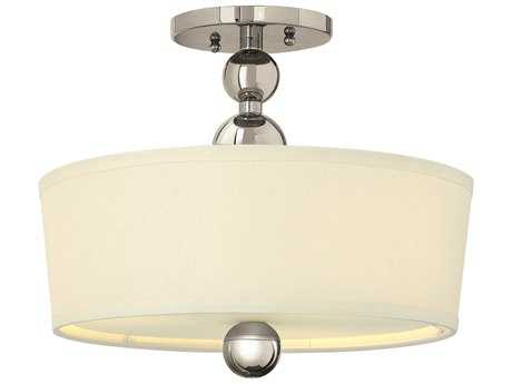 Hinkley Lighting Zelda Polished Nickel Three-Light Incandescent Semi-Flush Mount Light HY3441PN