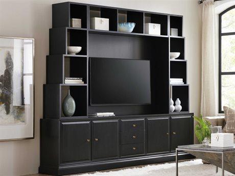 Hooker Furniture Rene Black Entertainment Center HOO17027011099SET
