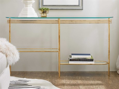 Hooker Furniture 5798-80 Gold 52'' Wide Oval Console Table
