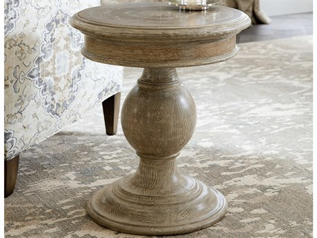 Hooker Furniture Light Wood 20'' Wide Round Dahlia Pedestal Table