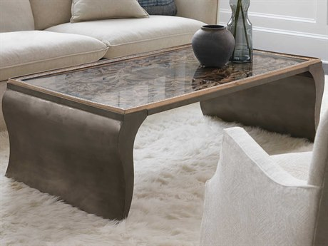 Hooker Furniture Accent Medium Wood 54'' Wide Rectangular Coffee Table