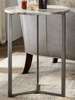 Hooker Furniture Accent Vellum / Charcoal 18'' Wide Round End Table