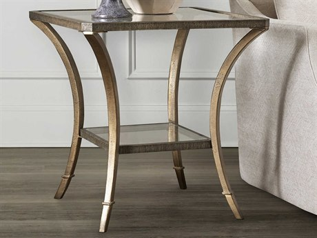 Hooker Furniture Accent Gold 24'' Wide Square End Table HOO608080113MTL