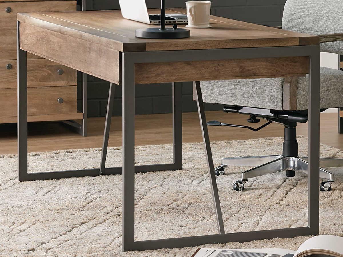 Hooker Furniture Gray / Medium Natural Wood Secretary Desk
