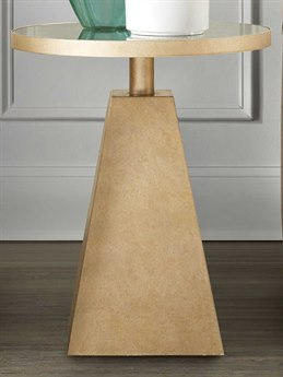 Hooker Furniture Mirrored / Gold 20'' Wide Round Pedestal Table