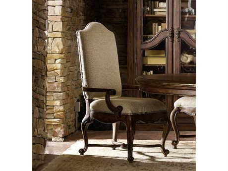 Hooker Furniture Adagio Rich Dark with Gold tipping Dining Arm Chair HOO509175500