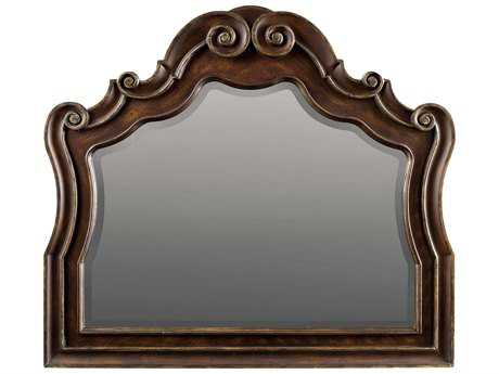Hooker Furniture Adagio Rich Dark with Gold Tipping 50''W x 44''H Landscape Dresser Mirror