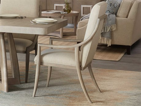 Hooker Furniture Affinity Greige Sand-blasted Arm Dining Chair