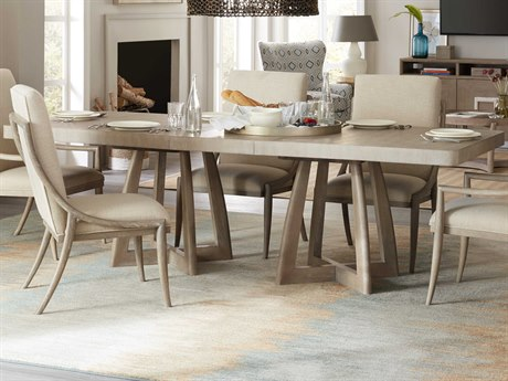 Hooker Furniture Affinity Greige Sand-blasted 78'' Wide Rectangular Dining Table