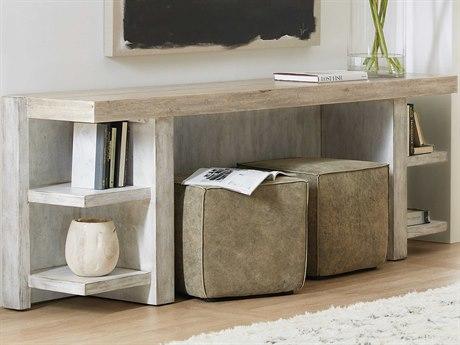 Hooker Furniture American Life - Amani Buff Almond / Chakra White Weathered Distressing 86'' Wide Rectangular Console Table