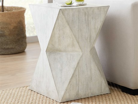 Hooker Furniture American Life - Amani Chakra White / Weathered Distressing 16'' Wide Square End Table