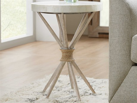 Hooker Furniture American Life - Amani Capiz Shell / Buff Almond 18'' Wide Round End Table