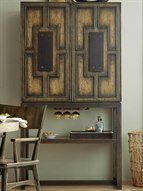 American Life - Crafted Dark Wood Bar Cabinet