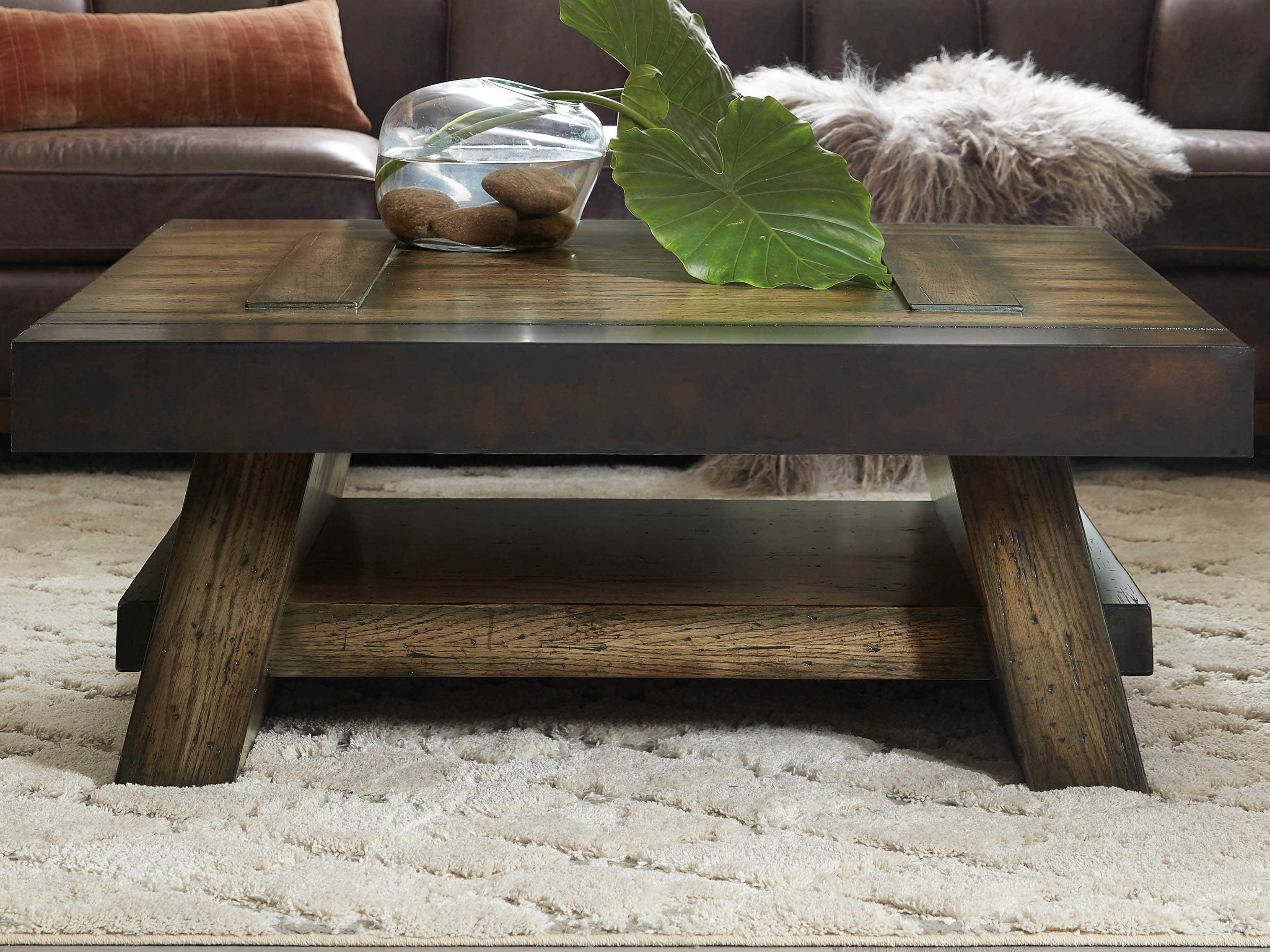 - Hooker Furniture American Life - Crafted Dark Wood 44'' Wide Square Coffee  Table HOO165480111DKW1