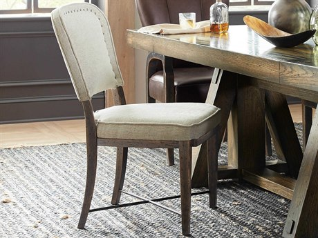Hooker Furniture American Life - Crafted Dark Wood / Merit Dove Side Dining Chair
