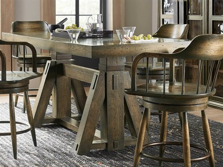 Hooker Furniture American Life - Crafted Dark Wood 62'' Wide Rectangular Counter Height Dining Table HOO165475206DKW1