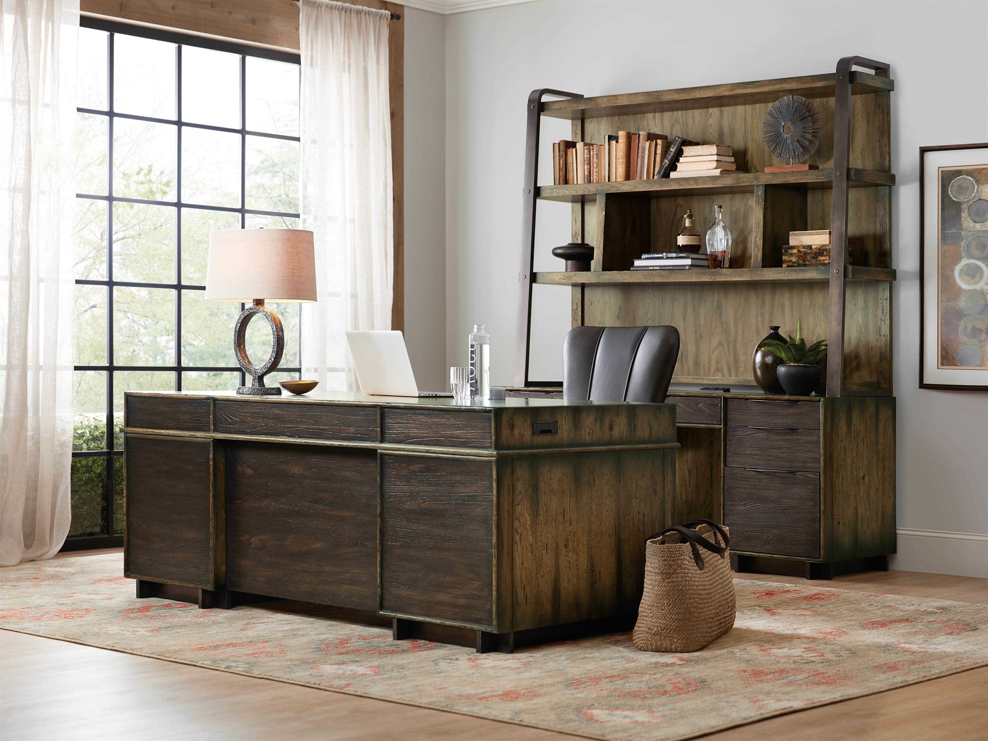 Hooker Furniture American Life Crafted Home Office Set Hoo165410563dkw1set