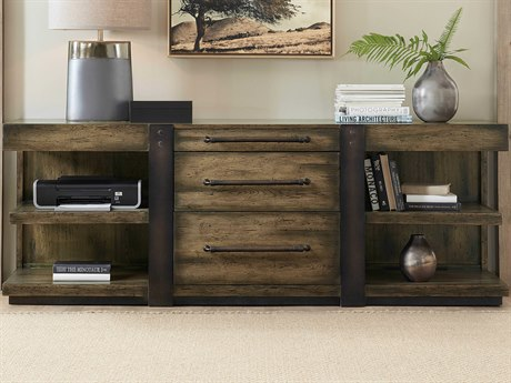 Hooker Furniture American Life - Crafted Dark Wood Credenza Desk HOO165410364DKW1
