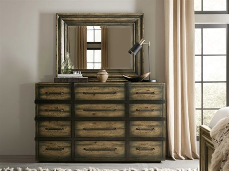 Hooker Furniture American Life-crafted Triple Dresser with Mirror HOO165490002DKW1SET