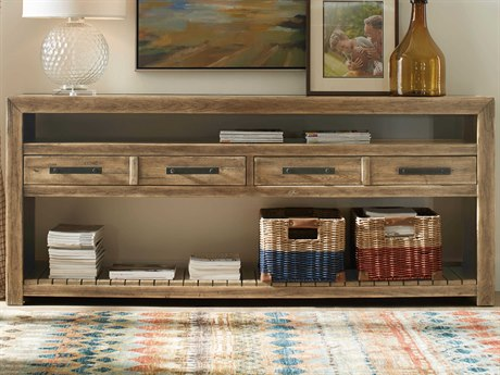 Hooker Furniture American Life - Roslyn County Medium Wood 84'' Wide Rectangular Console Table