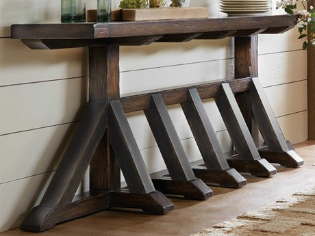 Hooker Furniture American Life - Roslyn County Dark Wood 105'' Wide Rectangular Console Table