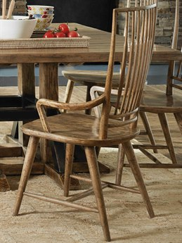 Hooker Furniture American Life - Roslyn County Medium Wood Arm Dining Chair