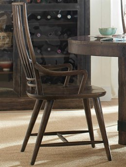 Hooker Furniture American Life - Roslyn County Dark Wood Arm Dining Chair