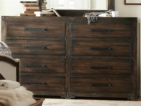 Hooker Furniture American Life - Roslyn County Dark Wood Eight-Drawers Double Dresser
