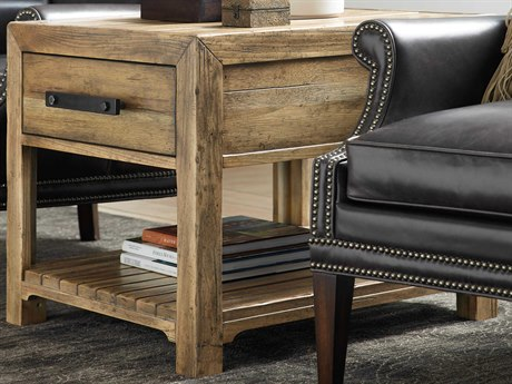 Hooker Furniture American Life - Roslyn County Medium Wood 24'' Wide Rectangular End Table